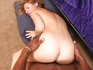 Skinny perky redhead milf sucks hard black saussage