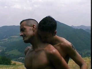 Saucy homo sex on mountain top