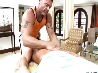 Athletic str8 chaps massage surprise