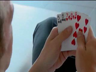 Blonde sweetheart Jessica Moore loses at undress poker and gets double penetration