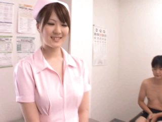 DD Cupped Momoka Nishina Loves Sucking and Tit Fucking her Patients' Dongs