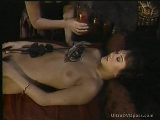 Buxom Blonde Dominatrix Pours Hot Wax On Her Lesbian Sadomasochism Disciple