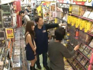 Cute Asian Model Enjoying Group Sex In The XXX Shop!
