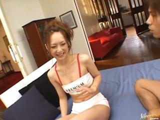 Perverted Race Queen Kaede Fuyutsuki Sucks Cock and Gets Fucked