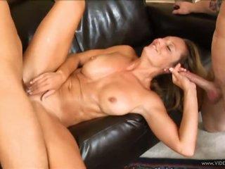 Blonde Cougar Brenda James In MMF Threesome