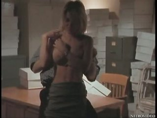 Super Breasty Julia Kruis Gets Fucked On a Desk - Softcore Sex Scene