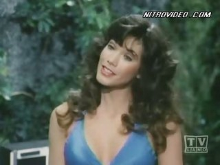 Nice-looking Barbi Benton In a Sexy Blue bikini