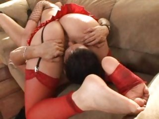 A ravishing sixty nine and a footjob from Annette Schwarz