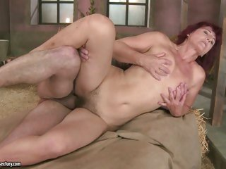Stunning Milf Ria receives her smooth clean shaven pussy fucked hard by dick