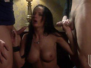 Big Breasted Brunette Pornstar Jenna Haze Gets Fucked In Three-some