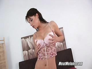 Lewd Black Haired Stracy Sucks And Rides Rod