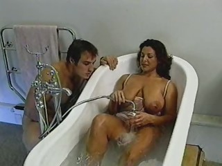 British Busty MILF gets fucked in the baths