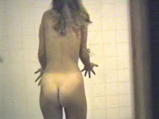 Hidden webcam - teen girl in a shower 01