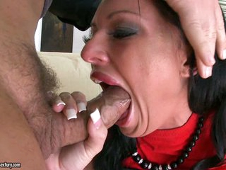 Gorgeous Kerry Louise takes a hard mouth fucking