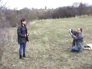 Cute model in the meadow 1