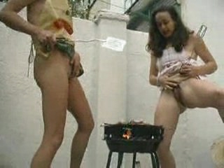 Peeing on barbeque