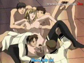 Hentai school girls gangbanged