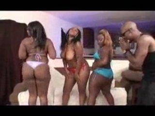Skyy Black, Mysterious & Queen B Got Milk sacks & Ass