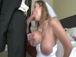Milf bride sucks and fucks fortunate groom