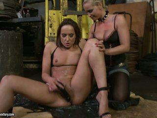 Andy Brown and Kathia Nobili playing with sex toy