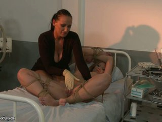 Kathia Nobili and Mandy Bright torture hawt patient