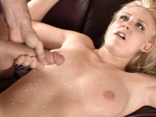 Natalie Norton get large wet load all over her body after a hardcore fuck