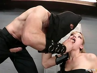 Jordan Ash is here to punish big titted Maya Hills. And the punishment for her is anal one. Busty Maya Hills gets ferociously throat fucked before man in black mask fills her asshole and then she finds his dick in her mouth again.