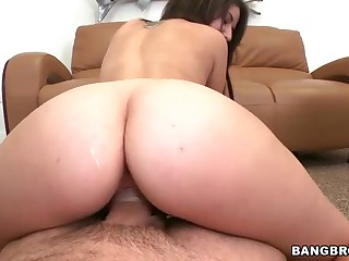 Ultra hot brunette Missi Daniels with incredibly sexy big ass rides sturdy cock reverse from your point of view. Guy can't resist the temptation to stick his index finger in her butthole.