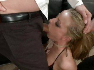 Gorgeous Denice K takes a hard dick down her throat