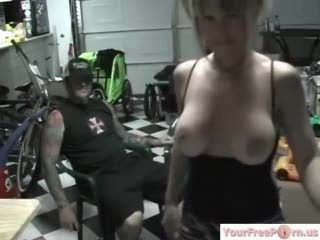 Biker Girl Is Looking For A Ride On His Cock