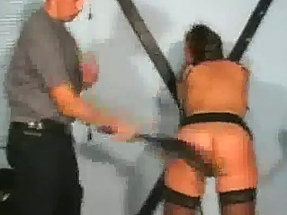 Girl With Collar Fucked With Toy Whipped Nipples Tortured By Master In The Dungeon