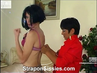 Jessica&Randolph pussyguy in strapon action