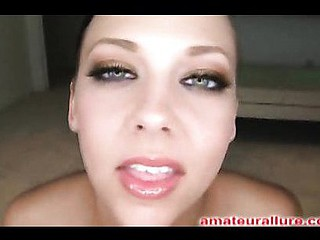 Sexy Legal Age Teenager Cutie Sucks Dong and Swallows a Huge Load