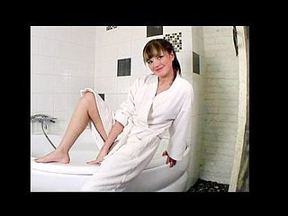 Legal Age Teenager nubile jilly gets wet in the bathtub literally