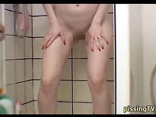 Cutie voids urine standing