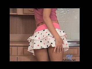Catch suzie in the kitchen in her petticoat and then stripping it all off
