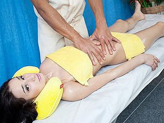 Booty massage play in porn movie