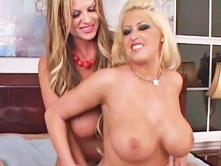 Two Large Tit Blondes Fucked