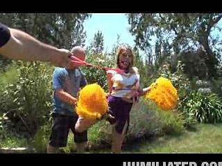 Gagged Cheerleader Shawna