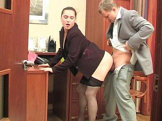 Joan&Adrian secretary hose movie
