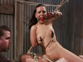 ball gagged and tied sadistically