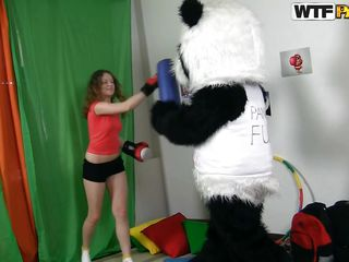 flexible slut getting panda's hard cock
