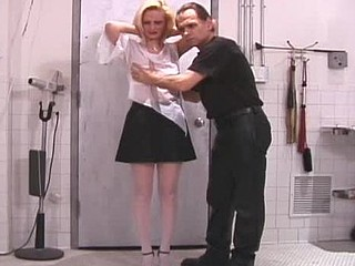 Sexy bitch gets hog tied and tit-tortured