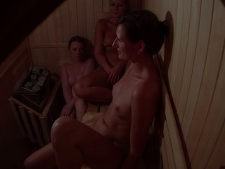 Hidden Livecam Catches three Beauties in Sauna