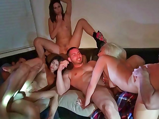 Anastasia Morna and Macy Lee joining Veronica Rodriguez during orgy