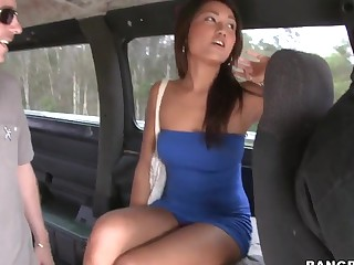 Brunette Alexis and our dirty pick up master