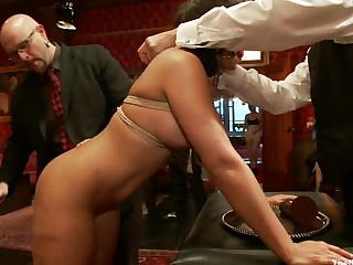 Anal Slave Meets the Household and a Gorgeous Guest is Ass Fucked