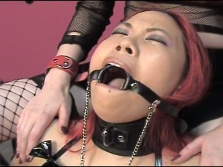 Gagged and juicy cum starving bitches enjoying hardcore torturing fun