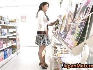 Ayane Asakura in a shop