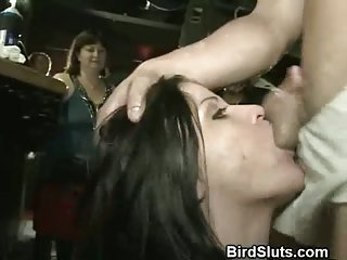 Multiple Girls Sucking Off Strippers